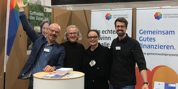 Helmo, Roland und Patrick mit Lisa Muhr